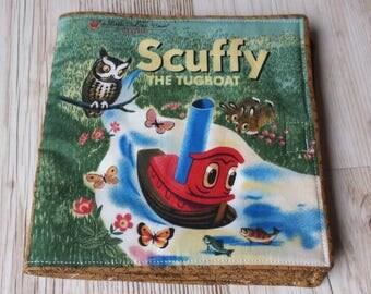 Children's soft cloth book/ scuffy the tugboat soft fabric book