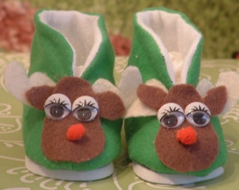 Reindeer Slippers for American Girl Dolls
