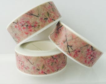 Pink Cherry Blossom Washi Tape