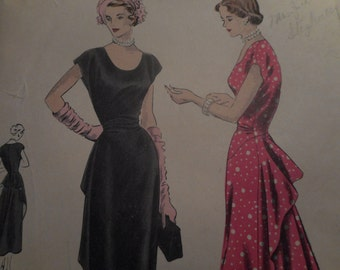 Vintage 1940's 6460 Dress Sewing Pattern Size 12 Bust 30