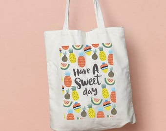 Have A Sweet Day Fruity tote bag