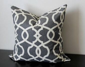 Decorative Throw Pillow Cover, Gray Pillow Cover, Throw Pillow, Toss Pillow, Geometric Pillow, Accent Pillow, Lumbar Pillow, 12x18, 12x20