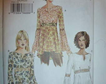 Vogue Pattern 7743 for Misses' / Misses' Petite Top  in Sizes 18-20-22