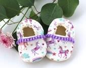 Unicorn Soft Sole Vegan Baby Shoes Baby Booties