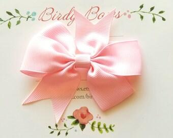Light Pink Bow Clip, Baby Headbands, Infant Headbands, Baby Girl Headbands, Infant Bow, Baby Bow, Girl Bow,Girl Headbands
