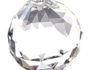2pc 44mm clear facted teardrop glass pendants-FOFFIC1
