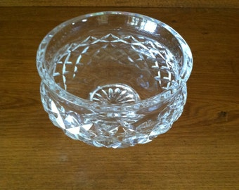 Footed Waterford candy dish