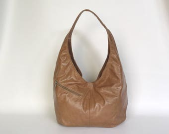Distressed Brown Leather Bags, Slouchy Hobo Bag with Pockets, Trendy Bags, Shoulder Handbag, Fashion Purse, Handmade Bags and Purses, Alicia