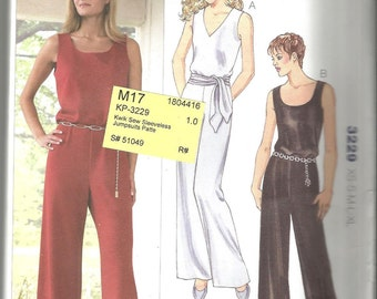 Kwik Sew 3229 uncut size X small - X large womans jumpsuit knits only