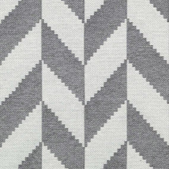 Modern Grey Upholstery Fabric by the Yard - Dark Grey Zig Zag ...