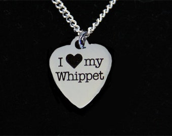 Whippet Necklace - Sighthound Necklace - Whippet Jewelry