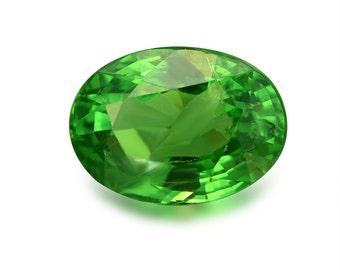 2.21ct Tsavorite Green Garnet Oval Shape Loose Gemstones (Watch Video) Free Shipping SKU 334A005