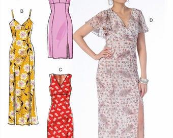 UNCUT Misses' Dress Pattern McCall's 7161 Maxi Dress, Spaghetti Strap, Flutter Sleeve, Midi Dress Size 6-8-10-12-14-16-18-20-22