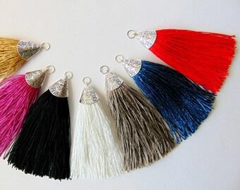 Silk Tassel Pendants, Jewelry Making Tassels,  Handmade Tassels,