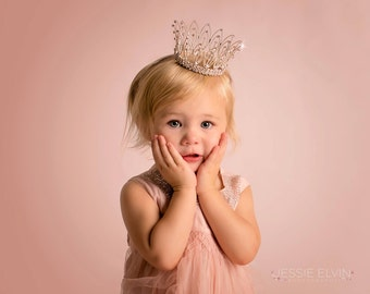 Toddler crown, Newborn Crown, newborn photo prop, Photo Prop - Jamie, baby crown, photography prop, crystal crown