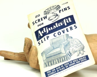 Vintage Slip Cover Adjusta-fit Screw Pins - Home Decor Slip Cover Attachments - Sofa Cover Chair Cover Scew Pins