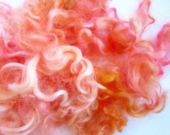 Pink and Gold Wool Curls - Baby Sheep Locks - Felting Supplies - Curly Locks - 1/2oz