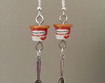 Ice cream tub earrings