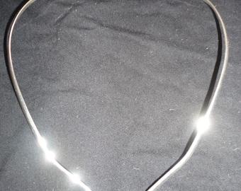 Vintage Sterling Silver Collar Necklace, Sterling Collar Necklace, Handmade Sterling Collar Necklace, Collar Necklace, Sterling Necklace