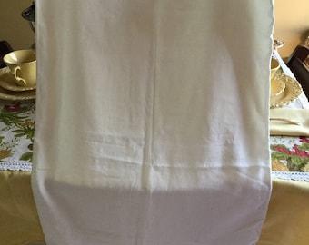 White 100% Cotton Zippered Standard Pillow Case Cover Bedding