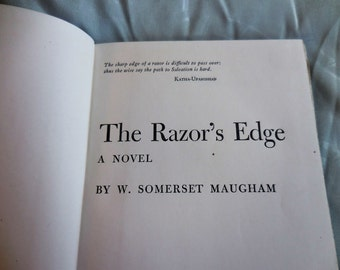 Rare Novel The Razor's Edge by W. Somerset Maugham book