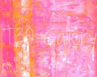 Digital Download - Sided, Pink and Orange Abstract Artwork