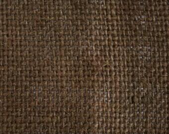 """Brown Burlap Fabric 60"""" Wide Per Yard"""