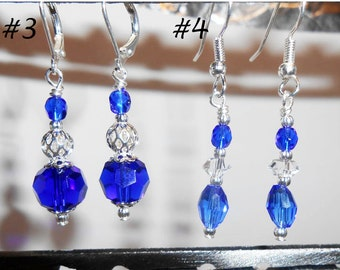 Crystal Earring and Wine Charm