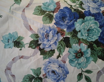 13 yards of vintage roses and ribbon fabric