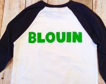 Last name surname Custom boys birthday shirt Personalized Add NAME -Monogram, Nickname, Initials, letters Baseball Shirt top 100 boys girls