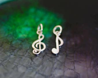 Sterling Silver Music Note - Treble Clef Charm - Music Theme Jewelry - Music Lover - Music Charm - Silver Music Note - Music Gift - Music