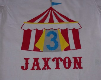 Carnival or Circus Theme Personalized 3rd Birthday T-Shirt