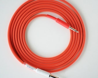 12ft. Guitar Cable- Mogami 2524 Silent Tip, Neon Red-NEW