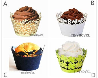 Lace cupcake liner, laser cut cupcake wrapper - Cake Deco, Party Decoration, Packaging-CC008