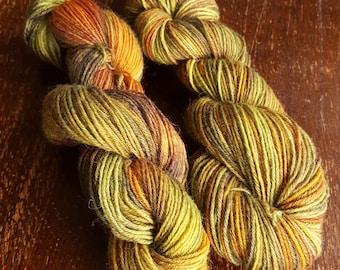 Hand dyed sock yarn, 2 x 50g, 75% wool