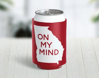 Georgia On My Mind Hugger // Choose Your Color // Custom Neoprene Can Hugger