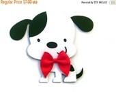 On SALE: Dalmatian Card, Dog Card, Dog Shaped Card, Puppy Card, Animal Card, Kids Cards, Dog with Bow, Handmade Card, Greeting Card, Birthda