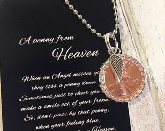 Penny from Heaven necklace with poem