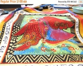 Spring Sale Quilting Weight Cotton Fabric Enchantment Panels designed by Laurel Burch 2 panels