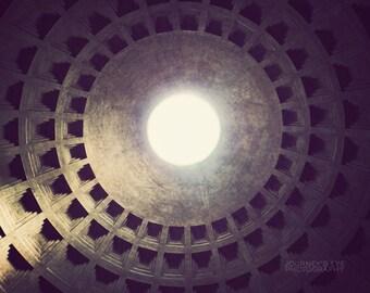 Pantheon photograph, Rome photography, Italy decor, Rome art, photo print, architecture, wall art