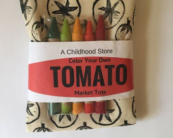 Tomato Color Your Own Market Tote Kit