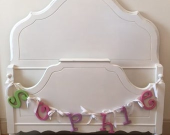 Forever Pink - White Shabby Chic Twin Bed