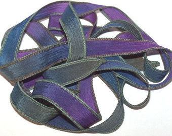 Moondust 5 Pack Special Sale/Silk Ribbons/Hand Dyed/Wrist Wraps/Sassy Silks/Ready to Ship/ See Description for Details