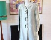 Vintage Silk Coat by Elvie Hill Melbourne 1960s