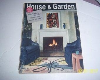November 1943 House & Garden Magazine Formal Living Room Fireplace Paper Ephemera