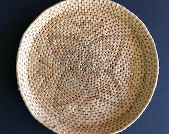 SALE! woven basket tray tribal wall art