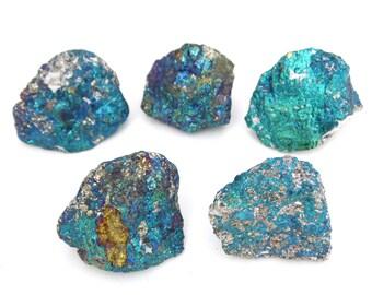 Chalcopyrite Specimens | Peacock Ore Specimens | Bornite Specimens | Large Rainbow Stone | Mineral Display Piece | Mineral Home Decor