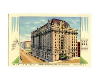 Willard Hotel in Washington DC - Vintage Postcard