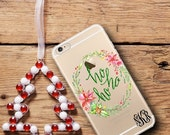 SALE Ho Ho Ho Christmas Iphone 6 case clear, Iphone 6 Plus case clear, Inexpensive Christmas stocking stuffer for women and co-workers (1604