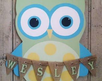 Boy Owl - Nursery Decor